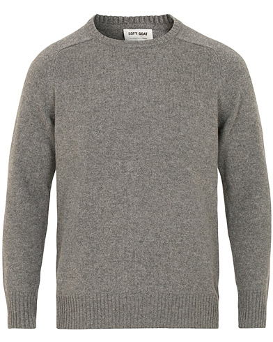 Soft Goat Cashmere Saddle Neck Dark Grey i gruppen Klær / Gensere / Strikkede gensere hos Care of Carl (15358111r)