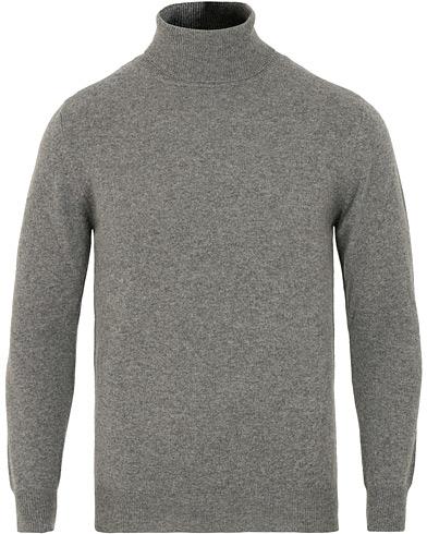 Soft Goat Cashmere Turtleneck Dark Grey