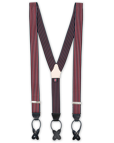Albert Thurston Striped Elastic Braces 35 mm Multi  i gruppen Assesoarer / Bukseseler hos Care of Carl (15360610)