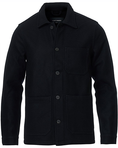 A Day's March Original Overshirt Wool Jacket Navy i gruppen Klær / Skjorter / Casual / Overshirts hos Care of Carl (15365311r)