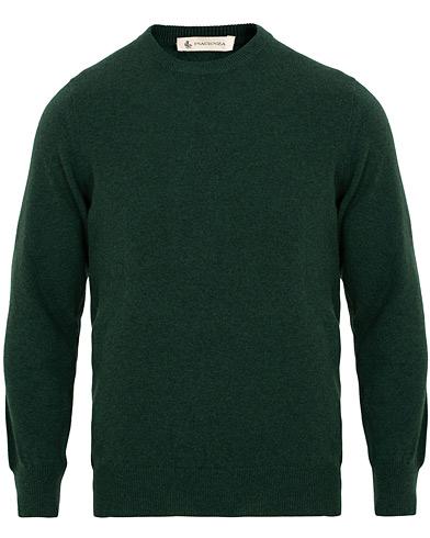 Piacenza Cashmere Cashmere Crew Neck Sweater Racing Green
