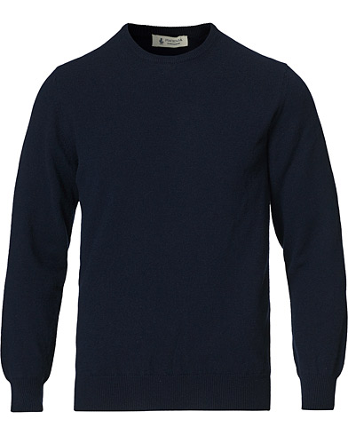 Piacenza Cashmere Cashmere Crew Neck Sweater Navy