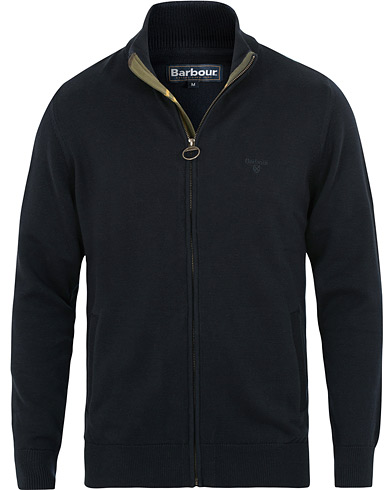 Barbour Lifestyle Cotton Full Zip Navy i gruppen Klær / Gensere / Zip-gensere hos Care of Carl (15414711r)