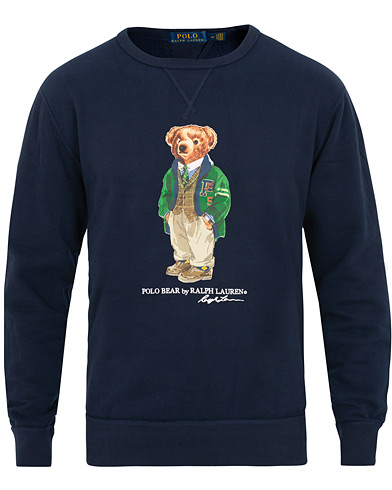 Polo Ralph Lauren Printed Bear Crew Neck Sweatshirt Cruise Royal i gruppen Klær / Gensere / Sweatshirts hos Care of Carl (15423911r)