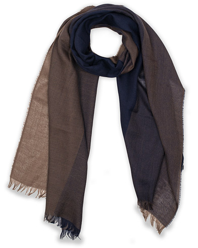 Eton Merino Wool Block Coloured Scarf Blue  i gruppen Assesoarer / Scarves hos Care of Carl (15459010)