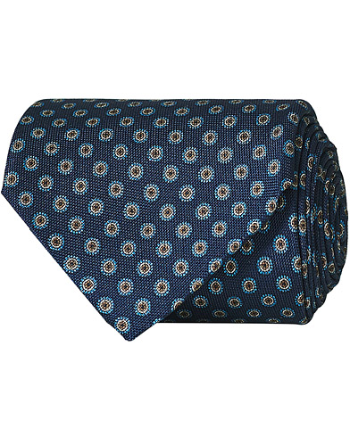 Eton Silk Geometric Print Tie Blue  i gruppen Assesoarer / Slips hos Care of Carl (15459910)