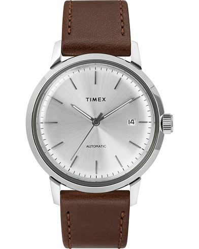 Timex Marlin Automatic 40mm Silver Dial  i gruppen Assesoarer / Klokker hos Care of Carl (15469610)