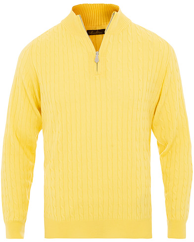 Stenströms Merino Wool Cable Half Zip Yellow i gruppen Klær / Gensere / Zip-gensere hos Care of Carl (15473311r)