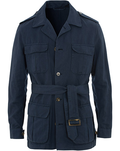 Stenströms Cotton Linen Field Jacket Navy