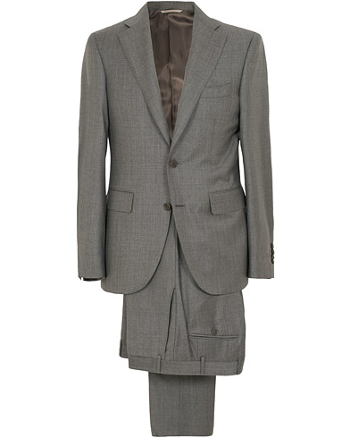 Canali Capri Wool Shark Skin Suit Grey