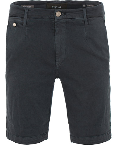 Replay Lehoen Hyperflex Chinoshorts Blue i gruppen Klær / Shorts / Chinosshorts hos Care of Carl (15495111r)