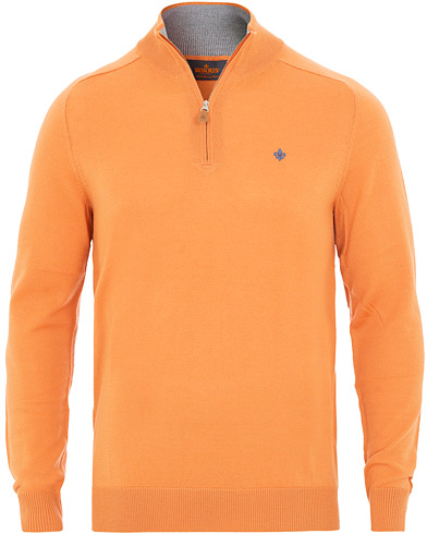 Morris Merino John Half-Zip Orange i gruppen Klær / Gensere / Zip-gensere hos Care of Carl (15500811r)