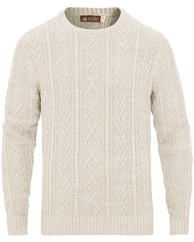 Morris Heritage Cable Sweater Grey i gruppen Klær / Gensere / Strikkede gensere hos Care of Carl (15514511r)