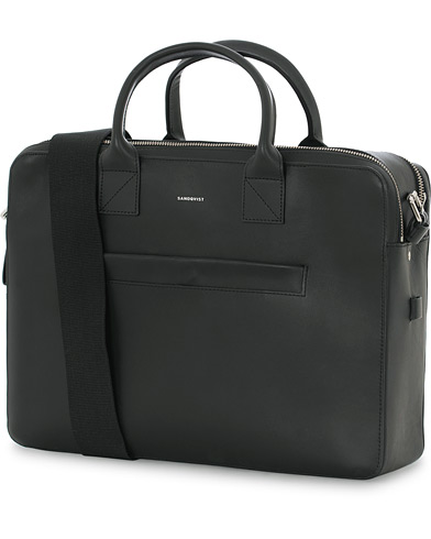 Sandqvist Seth Leather Briefcase Black  i gruppen Assesoarer / Vesker / Dokumentvesker hos Care of Carl (15520310)