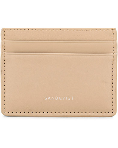 Sandqvist Fred Leather Card Holder Beige  i gruppen Assesoarer / Lommebøker / Kortholdere hos Care of Carl (15521110)