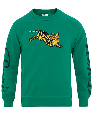 Kenzo Jumping Tiger Sweatshirt Green i gruppen Klær / Gensere / Sweatshirts hos Care of Carl (15524111r)