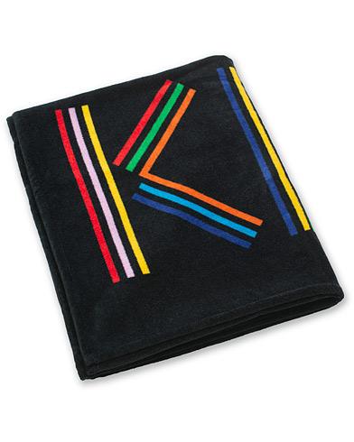 Kenzo Logo Beach Towel 100x170cm Black