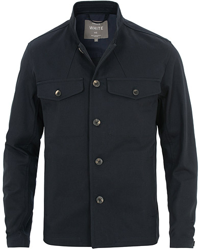 Private White V.C. Stand Tunic Overshirt Navy i gruppen Klær / Jakker / Tynne jakker hos Care of Carl (15532211r)
