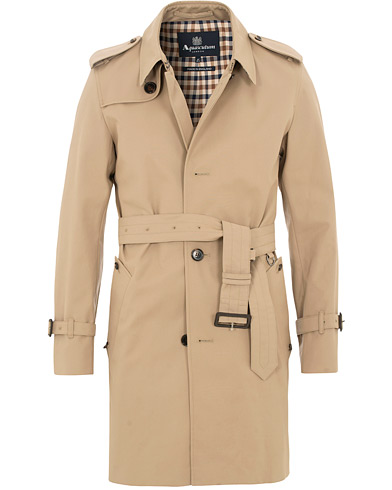 Aquascutum Corby Single Breasted Trenchcoat Camel