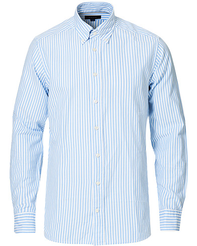 Eton Slim Fit Royal Oxford Stripe Button Down Light Blue