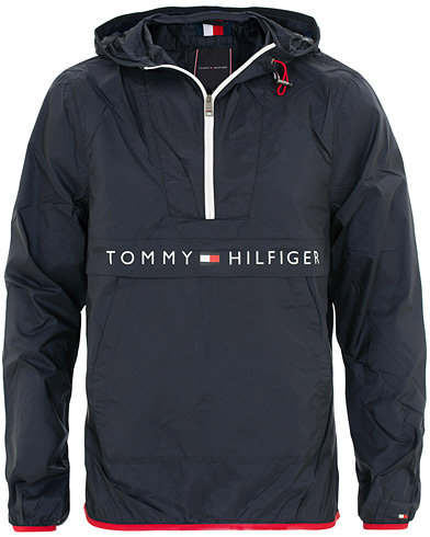 Tommy Hilfiger Ultra Light Packable Anorak Sky Captain i gruppen Klær / Jakker / Tynne jakker hos Care of Carl (15558911r)