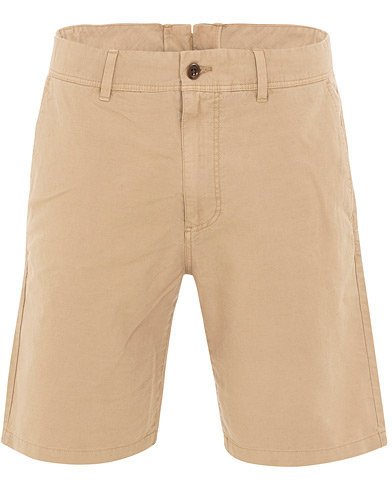GANT Cotton/Linen Shorts Dark Khaki i gruppen Klær / Shorts / Linshorts hos Care of Carl (15563111r)