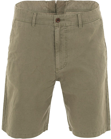 GANT Cotton/Linen Shorts Lichen Green i gruppen Klær / Shorts / Linshorts hos Care of Carl (15563211r)