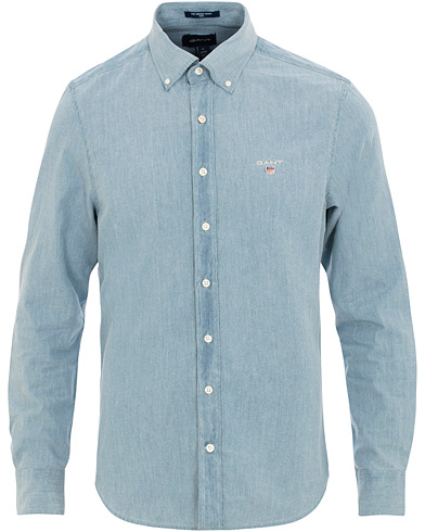 GANT Slim Fit Denim Shirt Light Wash i gruppen Klær / Skjorter / Casual / Jeansskjorter hos Care of Carl (15568911r)