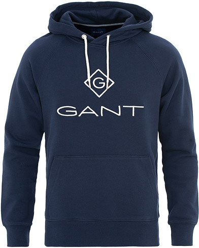 GANT Lock Up Hoodie Evening Blue i gruppen Klær / Gensere / Hettegensere hos Care of Carl (15570011r)