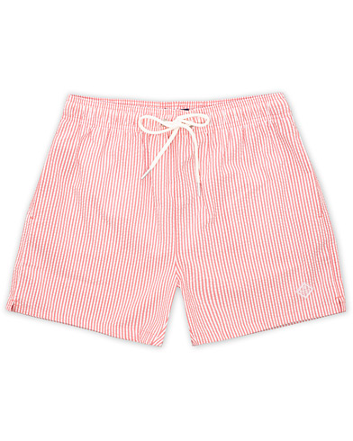 GANT Seersucker Swim Shorts Mineral Red i gruppen Klær / Badeshorts hos Care of Carl (15574711r)