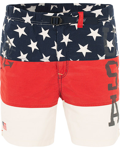 Polo Ralph Lauren American Shorts White/Red i gruppen Klær / Shorts / Chinosshorts hos Care of Carl (15588311r)