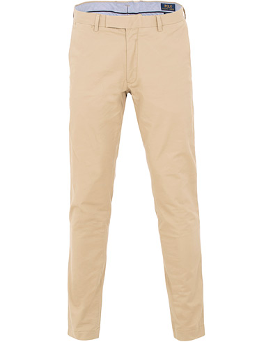 Polo Ralph Lauren Tailored Slim Fit Chinos Khaki i gruppen Klær / Bukser / Chinos hos Care of Carl (15588511r)