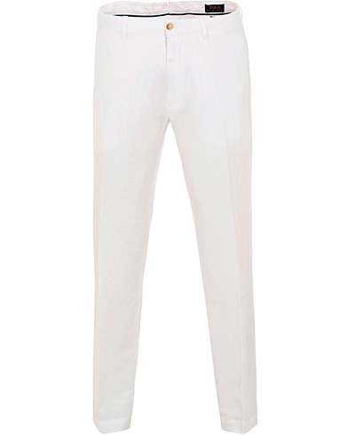 Polo Ralph Lauren Newport Linen Trousers Bright White i gruppen Klær / Bukser / Linbukser hos Care of Carl (15589411r)