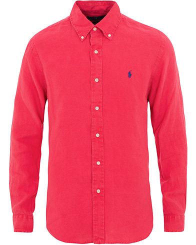 Polo Ralph Lauren Slim Fit Linen Shirt Bermuda Red i gruppen Klær / Skjorter / Casual / Linskjorter hos Care of Carl (15592111r)