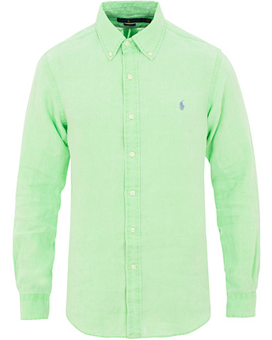 Polo Ralph Lauren Slim Fit Linen Shirt New Lime i gruppen Klær / Skjorter / Casual / Linskjorter hos Care of Carl (15592411r)