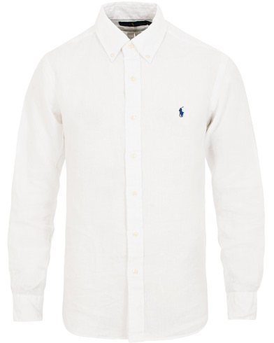 Polo Ralph Lauren Core Fit Linen Shirt Pure White i gruppen Klær / Skjorter / Casual / Linskjorter hos Care of Carl (15592811r)