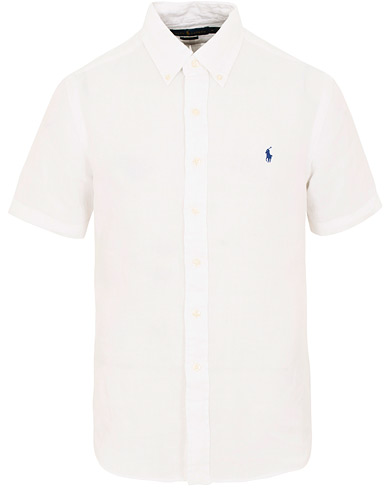 Polo Ralph Lauren Slim Fit Linen Short Sleeve Shirt Pure White i gruppen Klær / Skjorter / Casual / Kortermede skjorter hos Care of Carl (15593211r)