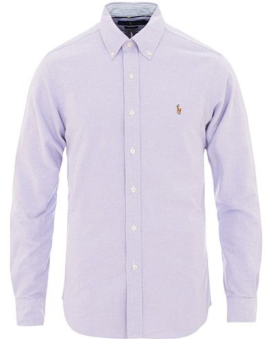 Polo Ralph Lauren Slim Fit Oxford Contrast Shirt Purple i gruppen Klær / Skjorter / Casual / Oxfordskjorter hos Care of Carl (15595811r)