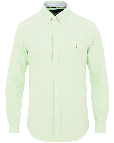 Polo Ralph Lauren Slim Fit Oxford Contrast Shirt Lime i gruppen Klær / Skjorter / Casual / Oxfordskjorter hos Care of Carl (15595911r)