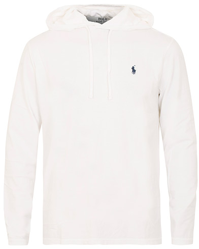 Polo Ralph Lauren Long Sleeve Hoodie White i gruppen Klær / T-Shirts / Langermede t-shirts hos Care of Carl (15601411r)