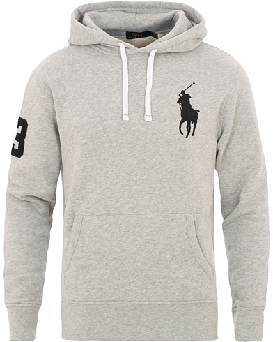 Polo Ralph Lauren Big Pony Hoodie Andover Heather i gruppen Klær / Gensere / Hettegensere hos Care of Carl (15609211r)