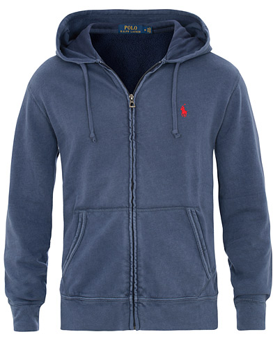 Polo Ralph Lauren Spa Terry Full Zip Hoodie Cruise Navy i gruppen Klær / Gensere / Hettegensere hos Care of Carl (15611011r)