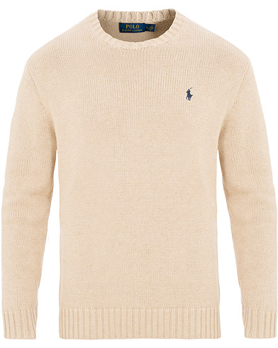 Polo Ralph Lauren Cotton Crew Neck Pullover Sand Heather i gruppen Klær / Gensere / Strikkede gensere hos Care of Carl (15612711r)