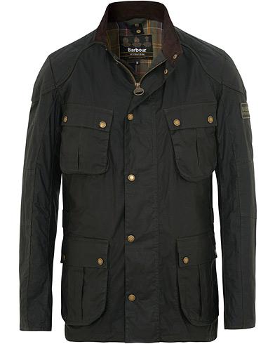 Barbour International Lightweight Lockseam Wax Jacket Sage