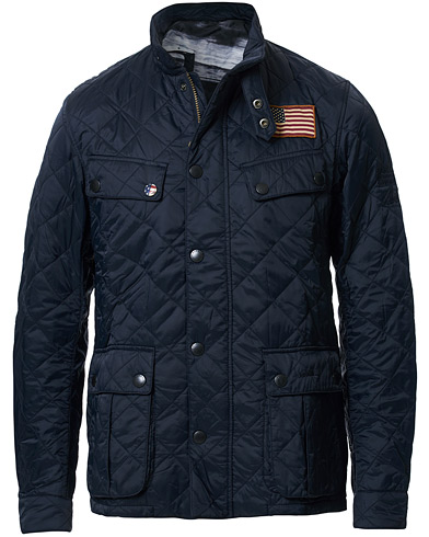 Barbour International Steve McQueen Jeffries Quilted Jacket Navy i gruppen Klær / Jakker / Quiltede jakker hos Care of Carl (15618511r)