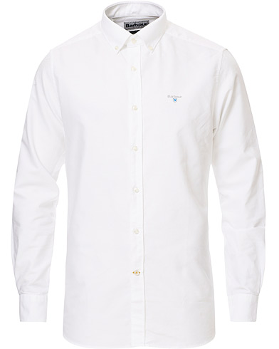 Barbour Lifestyle Tailored Fit Oxford 3 Shirt White i gruppen Klær / Skjorter / Casual / Oxfordskjorter hos Care of Carl (15620711r)