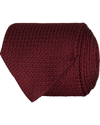 Amanda Christensen Silk Grenadine 8 cm Tie Wine Red