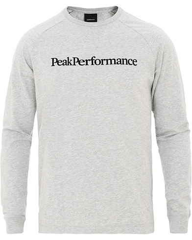 Peak Performance Walt Long Sleeve Tee Medium Grey Melange i gruppen Klær / T-Shirts / Langermede t-shirts hos Care of Carl (15659511r)