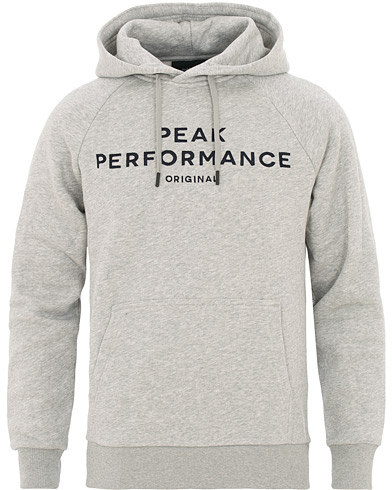 Peak Performance Original Hoodie Grey i gruppen Klær / Gensere / Hettegensere hos Care of Carl (15661111r)