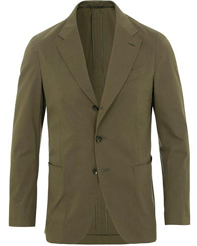 Caruso Cotton Stretch Blazer Olive Green